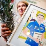 Cecilia Bratt var stand in för Nadiya Volynska, OK Orion, Årets kvinnliga idrottare.