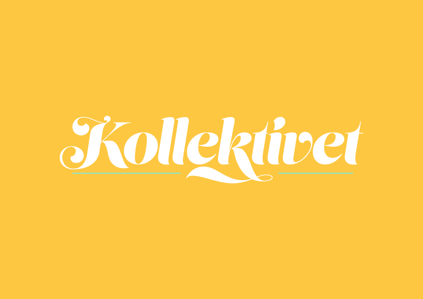 Kollektivet_logotype-white_and_green-on_yellow